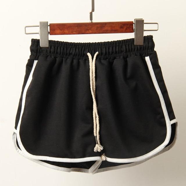 Pantalones cortos negros deportivos de talla grande para mujer Pantalones cortos de verano para playa para mujer
