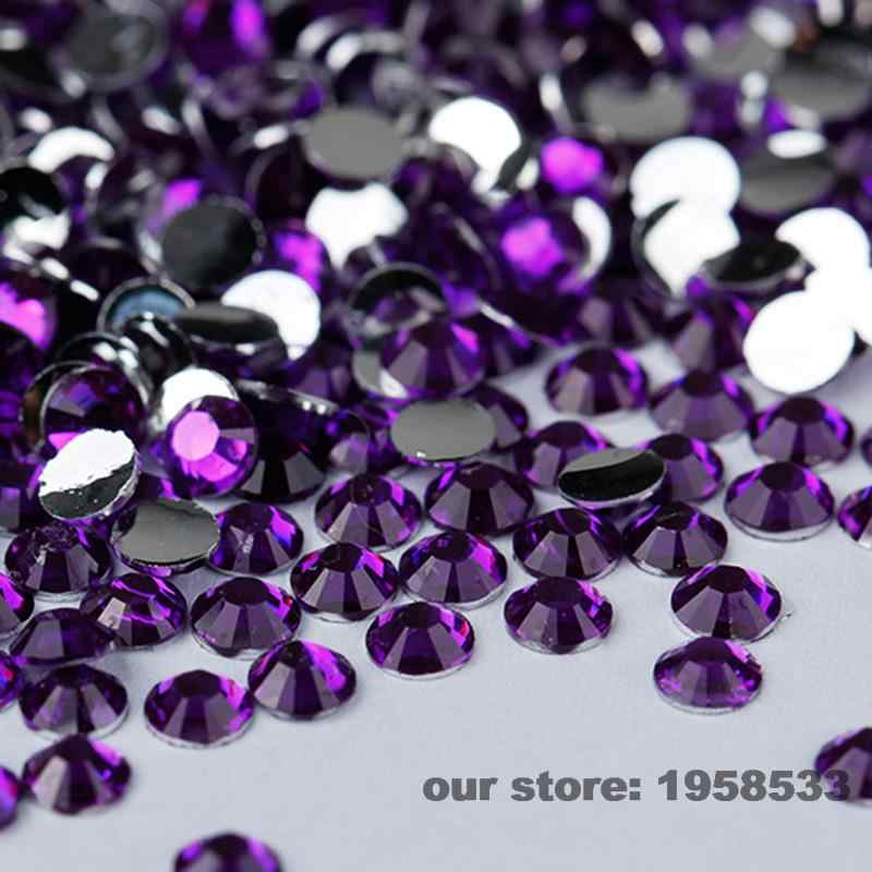 Mix Größe 2mm-6mm 400 teile/beutel Dark Purple Violet Harz Nail art Glitter Strass Nails Werkzeuge DIY dekoration N15