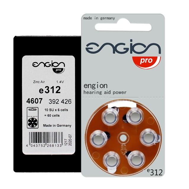 بطارية Engion عالية الأداء 312 A312 E312 P312 PR41 لأداء CIC مساعدات للسمع بطاريات بطارية زر خلية الهواء الزنك
