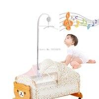 Ropa de Cama de bebé Sonajeros Juguetes Cuna Móvil Brazo Soporte Holder + Wind-Up Caja de Música-B116