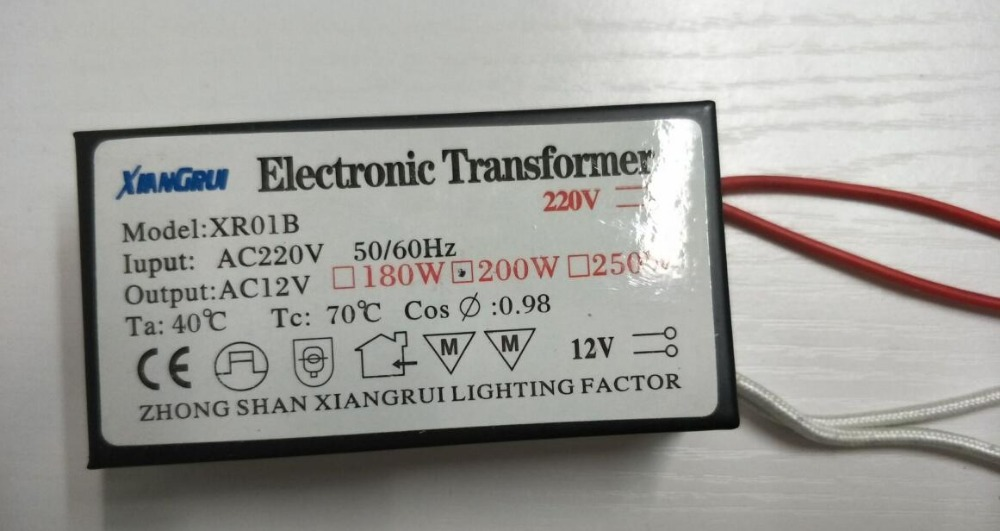 new 200W high power no noise no flicker Electronic Transformer 220V - 12V Halogen Bulb  Driver