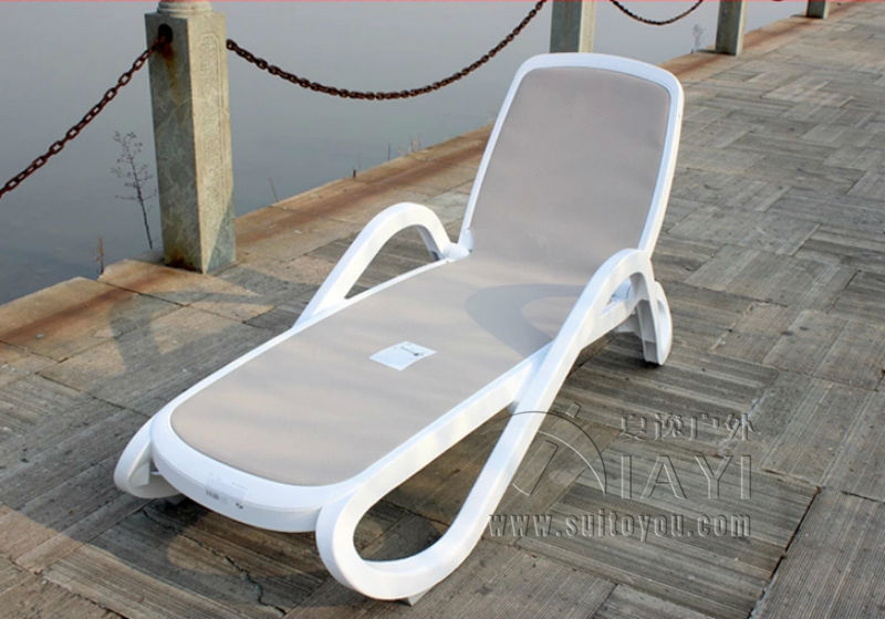 Outdoor Beach Chairs Chair And A Half Rocker Glider Plastic White Color Furniture Lounger For Swimming Pool Patio Transport By Sea