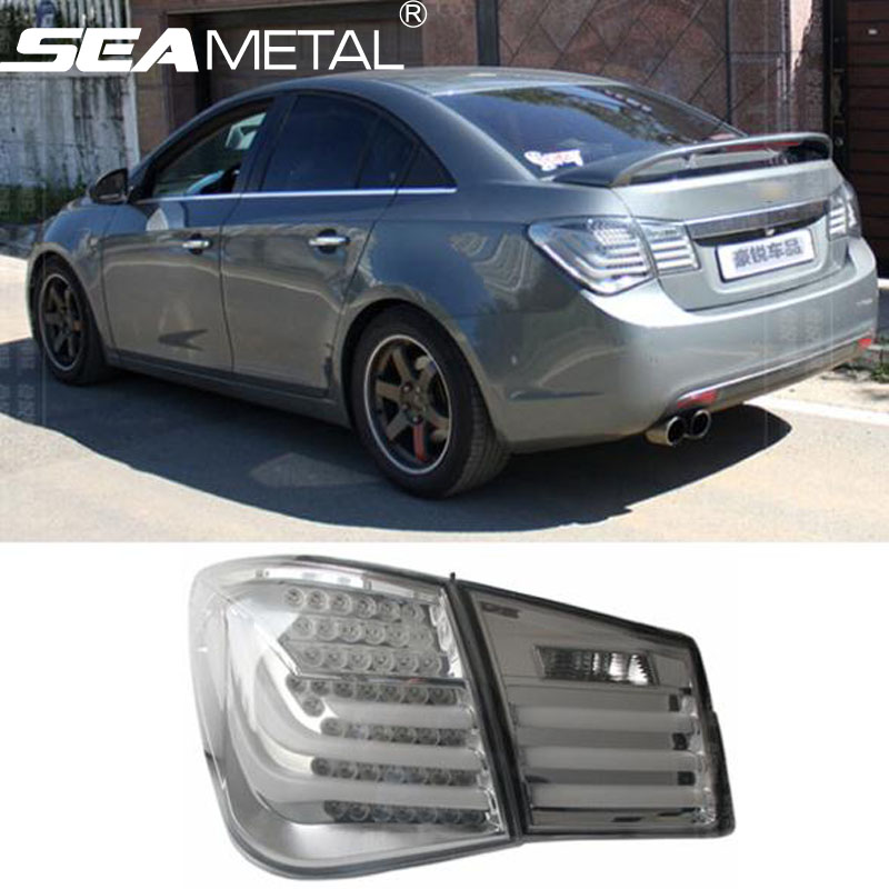 Car TailLights For Chevrolet Cruze 2009 2010 2011 2012 2013 2014 Auto Tail light Assembly Rear Brake Lamps Rear lights kit car rear trunk security shield shade cargo cover for hyundai tucson 2006 2007 2008 2009 2010 2011 2012 2013 2014 black beige