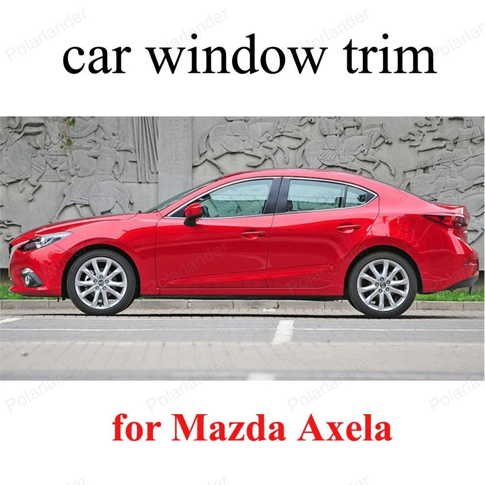 Car Styling Accessories Decoration Strips For M-azda Axela Window Trim Stainless steel stainless steel full window with center pillar decoration trim car accessories for hyundai ix35 2013 2014 2015 24