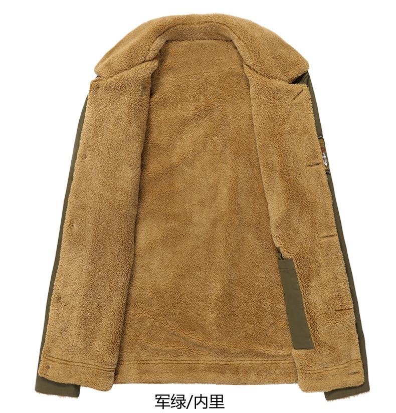 HTB1KJt0ekfb uJjSsD4q6yqiFXap 2019 Winter Bomber Jacket Men Air Force Pilot MA1 Jacket Warm Male fur collar Mens Army Tactical Fleece Jackets Drop Shipping