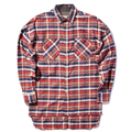 FEAR OF GOD shirts men justin bieber flannel Scotland plaid long sleeve shirts brand Hiphop extended oversize Men Cotton shirt 5