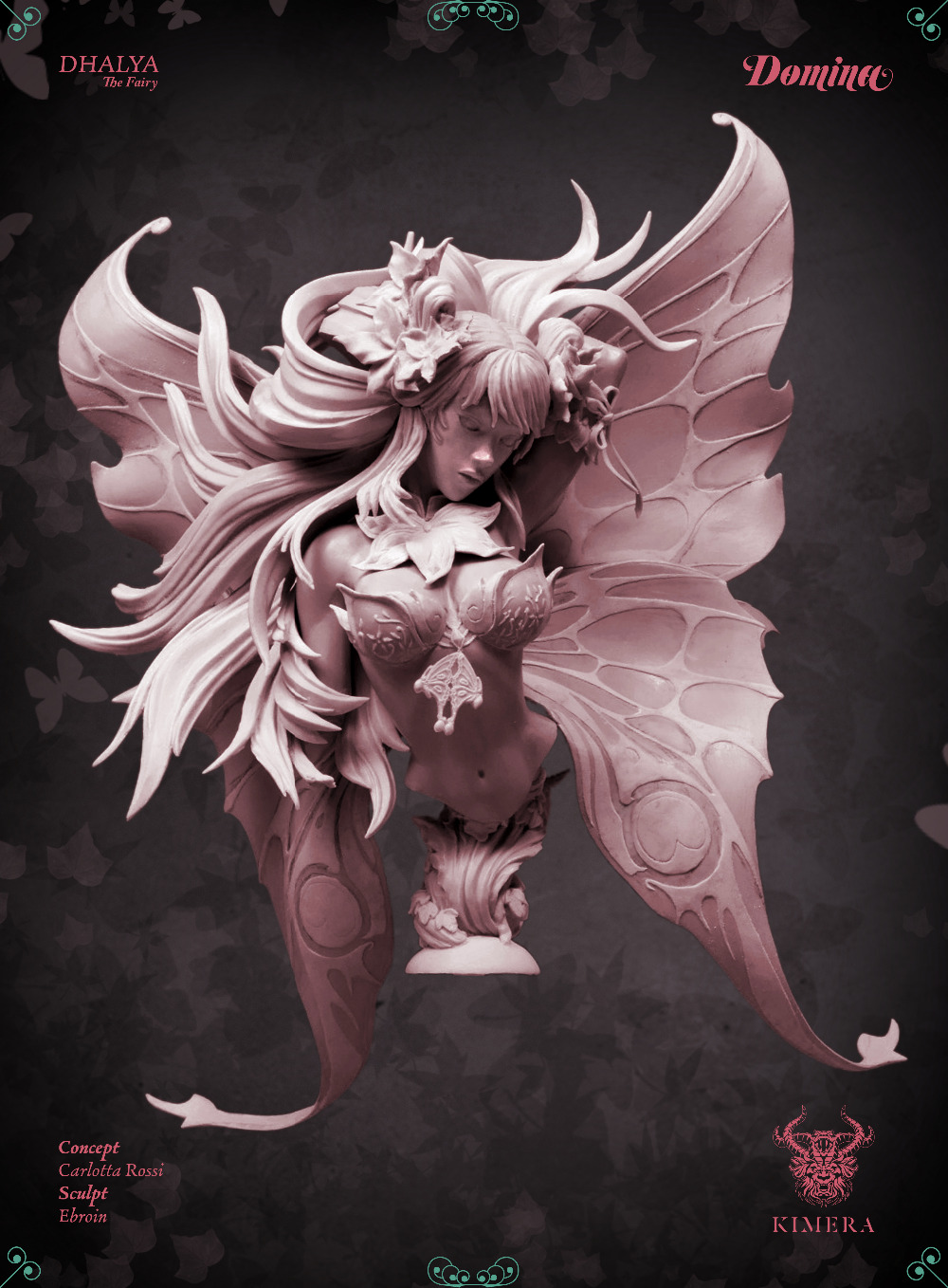 [Loong Way Miniatures] Kimera Models DHALYA THE FAIRY Bust Resin Miniature