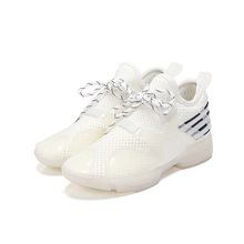2017 Brand Fashion Women Casual Shoes Comfortable Breathable Mesh Height Increasing Lightweight Trainers Basket Walking Red 40