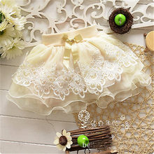 CANIS Kids baby Girl tutu skirt baby Girls tutu lace princess skirts pink tulle puffy skirts short cake children skirt Girl(China)