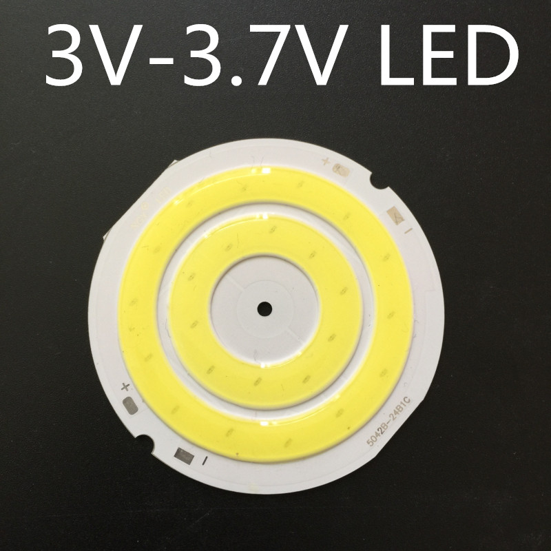 LED Circular Lamp Ring 3v-3.7 V White Light Battery Lamp Ring LED Surface Luminescent Circle 50mm High Light Panel Light 3W COB
