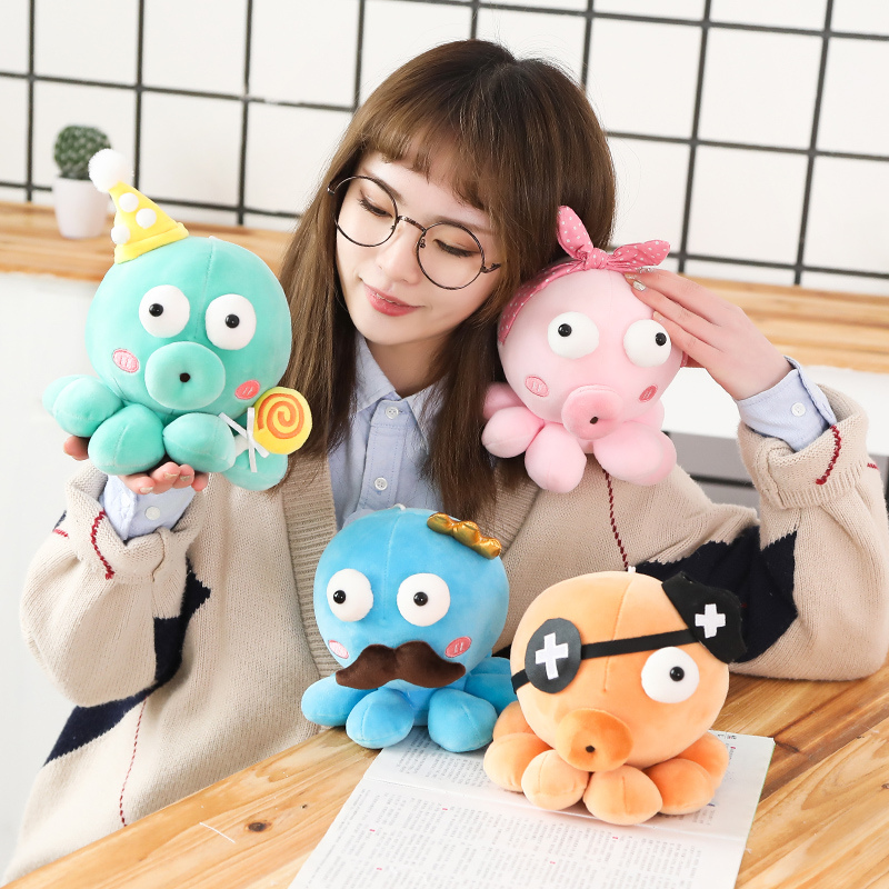 2019 Kids Soft Plush <font><b>Octopus</b></font> <font><b>Toys</b></font> for Children Kawaii Baby PP Cotton Stuffed Animals Dolls Cute Christmas Xmas Birthday Gift image