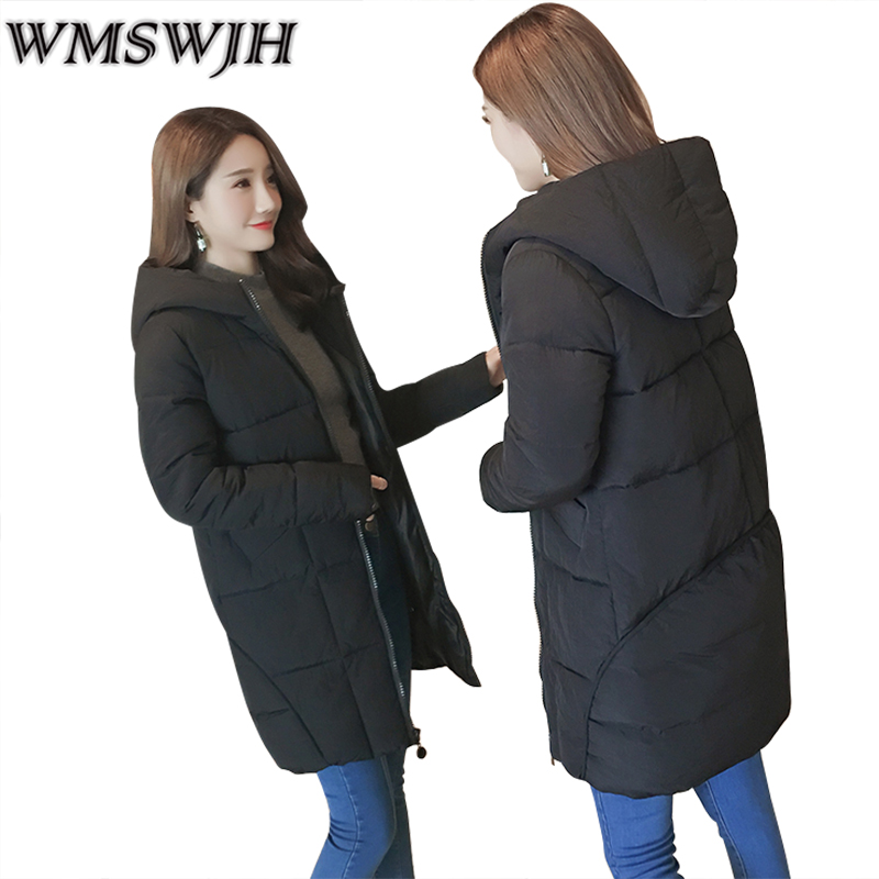 2017 Autumn Jacket Women Winter Coat Female Warm Padded Cotton Quilted Coat Ladies Long Slim Parkas Outwear Clothing WS300 mozhini women spring autumn parkas lady long warm jacket padded warm jacket winter coat warm outwear thin padded cotton jacket