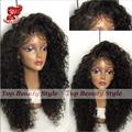 Быстрая доставка Вьющиеся синтетический парик фронта шнурка жаропрочных для чернокожих женщин kinky вьющиеся синтетические парики с волосами младенца