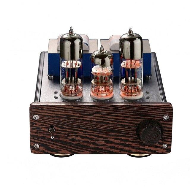 """Douk audio HiFi Stereo 6N2 + 6N6 Tubo A Vuoto Amplificatore & 2 """"pollici Speaker In Legno di Palissandro Classe AB Amp"""