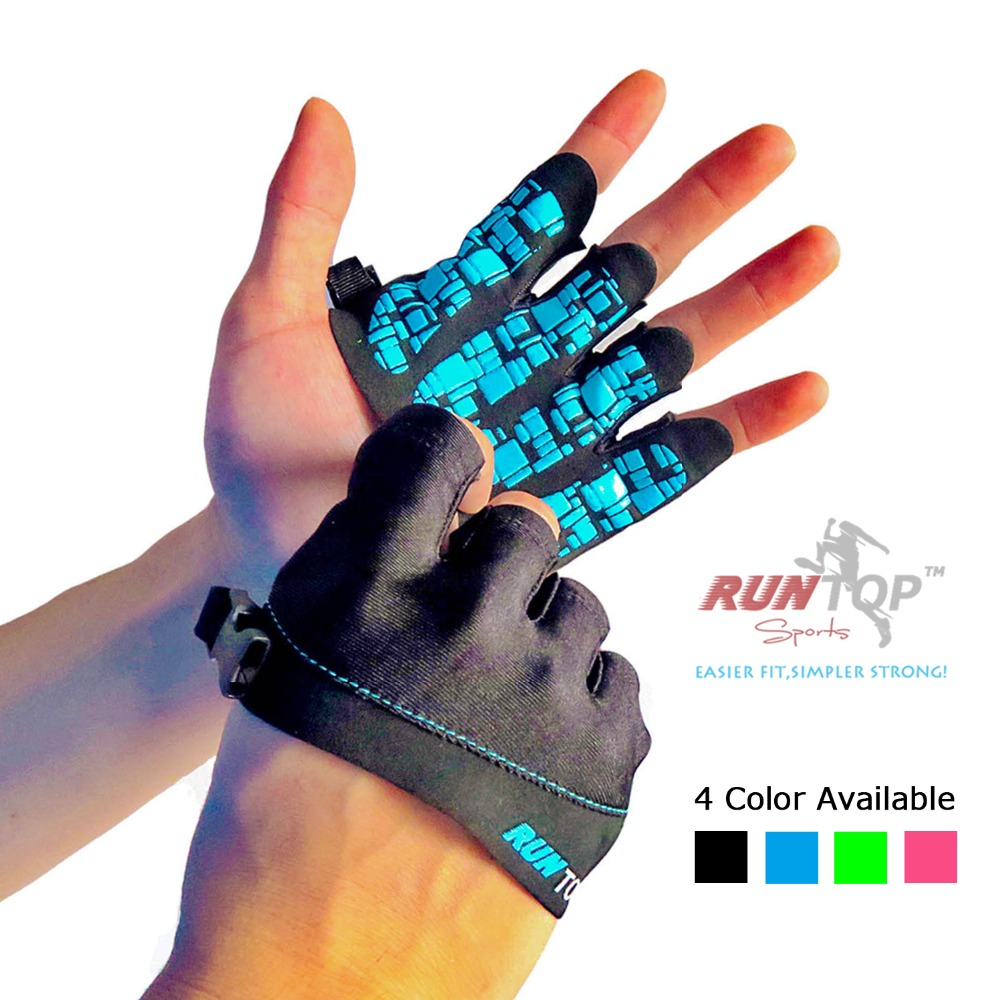Runtop Silicone Crossfit Glove Women Workout Fitness Gym