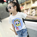 Cartoon Duck Mouth Tide Tee Girl T-shirts 2017 Summer Brand Design Children's T-shirt for Toddle Baby Cotton Short-sleeved Girl
