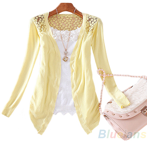 New Style Lady Korean Style Candy Color Crochet Knit Top Coat Sweater Cardigan Summer Crochet Blouse Retail/Wholesale