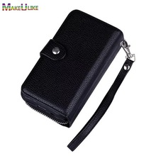 hot deal buy zipper wallet case for iphone xs max xr phone bag case lanyards pu leather flip+detachable back cover for iphone xr xs max