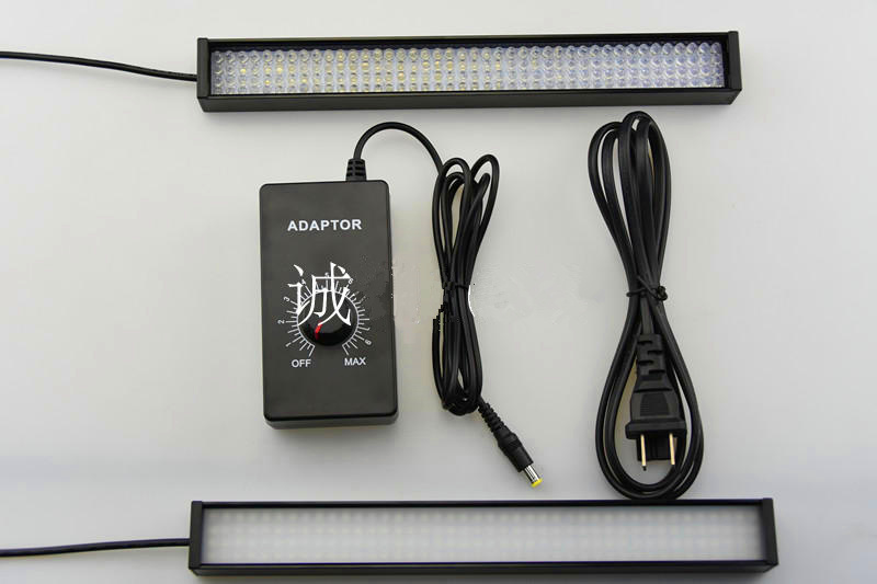 Machine Vision Inspection Industrial Lighting LED Strip White Light 257 * 30 * Mm Lampshade Adjustable Brightness No Reflection