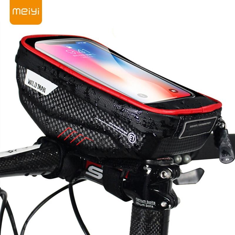 MEIYI Bike Phone Holder Universal Bike Mobile Support Stand Waterproof Bag For iPhone XS Max/XR/X GPS Bicycle Moto Handlebar BagMEIYI Bike Phone Holder Universal Bike Mobile Support Stand Waterproof Bag For iPhone XS Max/XR/X GPS Bicycle Moto Handlebar Bag