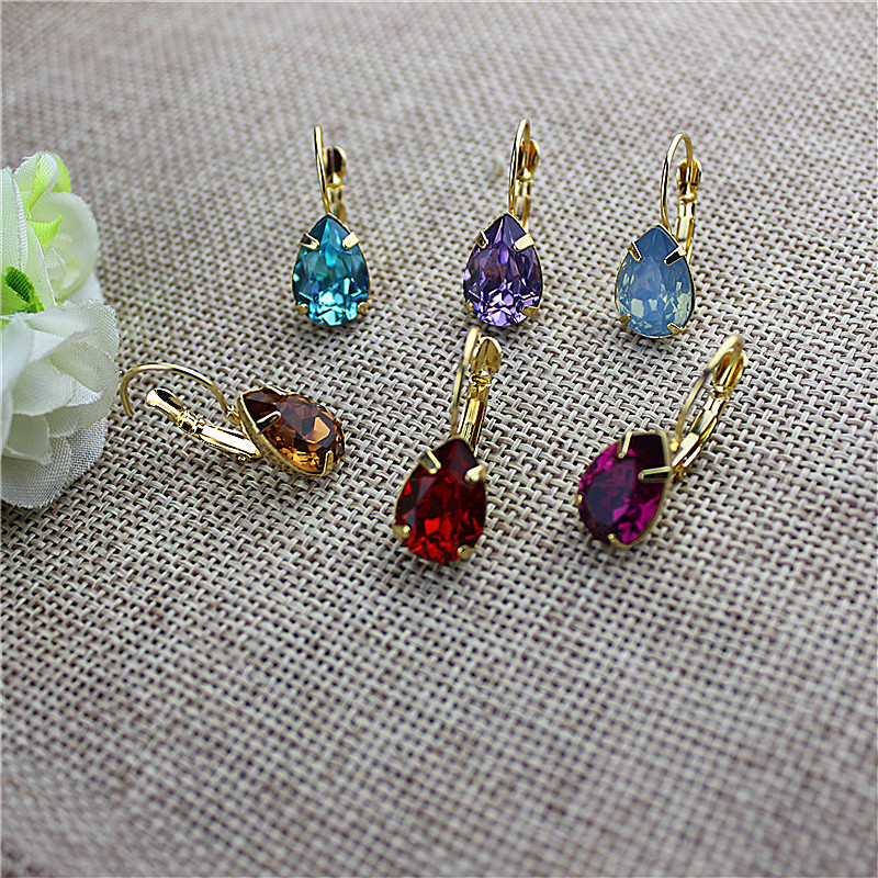 The New Popular Gorgeous Women Accessories Wholesale Girl Birthday Party Beautiful Drop Ear Hook Type Earrings Gift Shipping Age