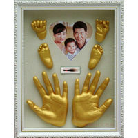 Imprint Baby Souvenir Mud Frame for Baby hand&footprint Clay Modellabile Wall Hanging Home Decoration Accessories