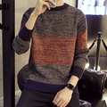 Nova camisola do inverno moda masculina camisola de gola alta camisola de tricô cor juventude camisola dos homens de malha de todos os jogo simples apoio