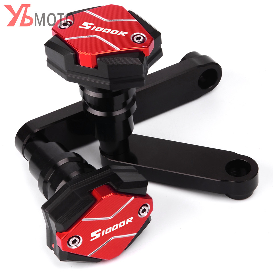 S1000R logo CNC Frame Sliders Crash Pad Falling Protector Guard For BMW S1000R 2014 2015 2016 Engine Protection Sliders coverS1000R logo CNC Frame Sliders Crash Pad Falling Protector Guard For BMW S1000R 2014 2015 2016 Engine Protection Sliders cover