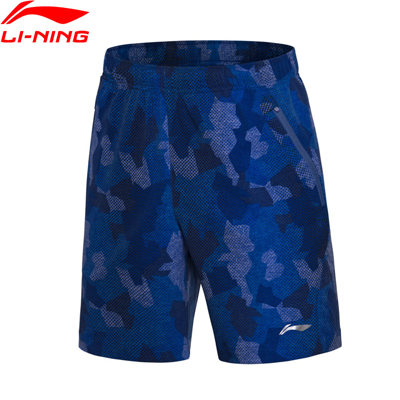 Li-Ning Men Badminton Competition Sport Shorts 91.1% Polyester 8.9% Spandex LiNing Comfort Sports Shorts AAPN035 MKD1519