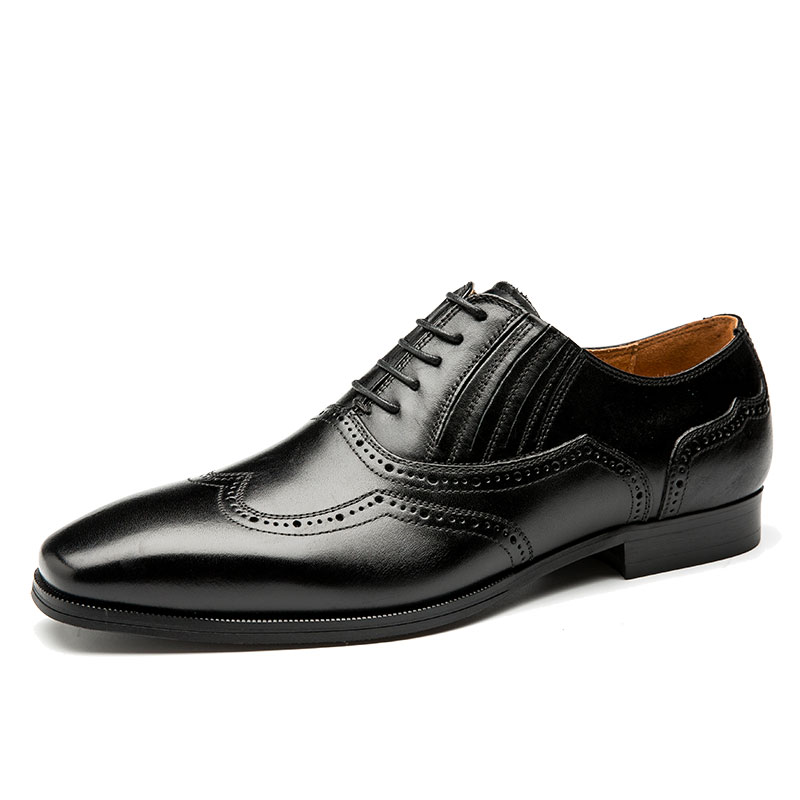 large size mens luxury fashion genuine leather brogue shoes carved bullock oxfords shoe handmade business wedding formal dress genuine leather mens derby shoes classic oxfords wedding dress shoes business formal brogue round toe carved us6 0 10 plus size