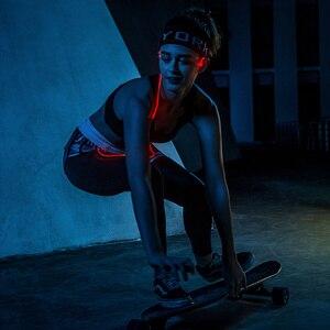 Image 4 - الأصلي Meizu هالو الليزر فلاش سماعة رأس بخاصية البلوتوث في الأذن الرياضة تشغيل سماعة مع مايكروفون سماعات الأذن المغناطيسي لجميع الهواتف OS IOS