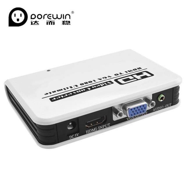 Dorewin hdmi to vga converter adapter box with 35mm audio cable dorewin hdmi to vga converter adapter box with 35mm audio cable port 1080p hd hdmi publicscrutiny Gallery