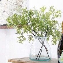 Easinflo Green Artificial Cypress Flower Arrangement Decor