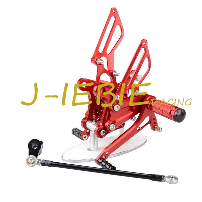 CNC Racing Rearset Adjustable Rear Sets Foot pegs Fit For Honda NSR50 NSF100 ALL YEARS RED