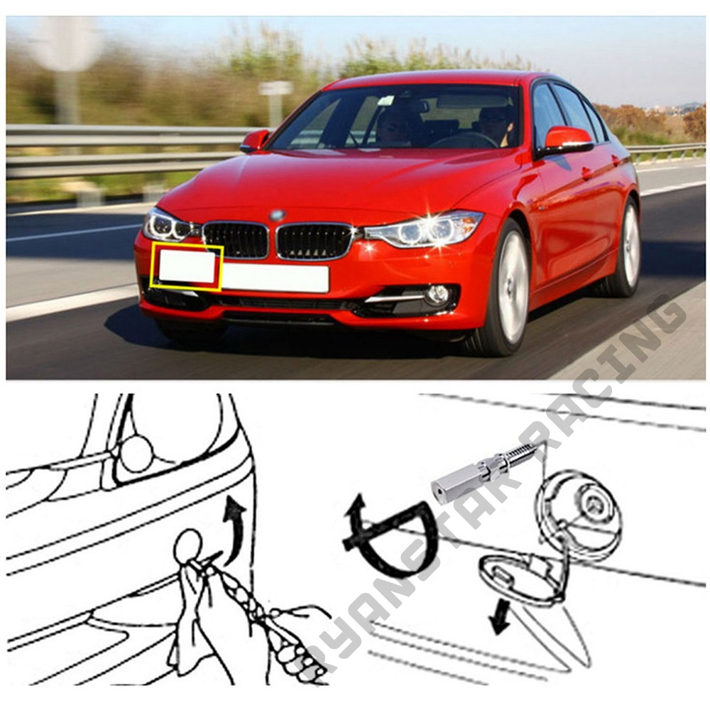 Bumper Tow Hook License Plate Mounting Bracket For BMW X3 X4 Z4 i3 2 3 4 Series
