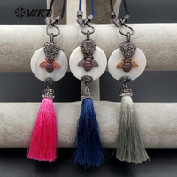 WT NV198 Wholesale Trendy Shell Silk Tassel Pendant Braided Insect Pattern Rhinestone Micro Pave Bee Shape