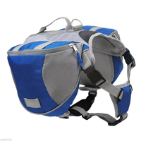 Dog BackPack Harness Quick Release Carriers Dog Pack Hound Travel Camping Hiking Saddle Bag Rucksack For
