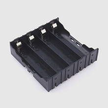 4IN1 18650 Li ion Battery Storage Plastic Clip Holder Case Box 8 Pin Contact Black 3