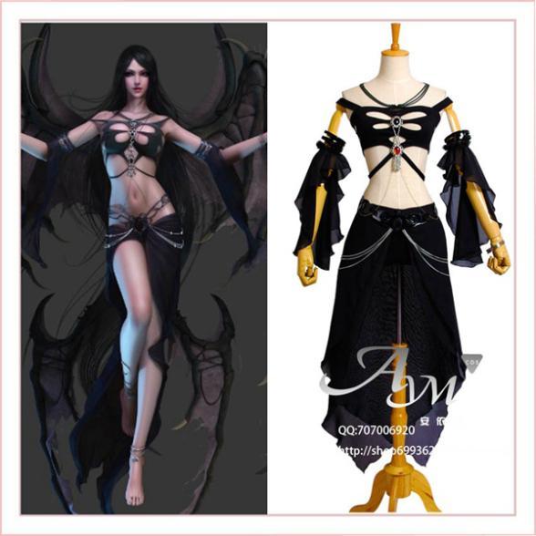 Sexy Shaiya Dark Goddess Game Cosplay Costume Tailor-made[G707]