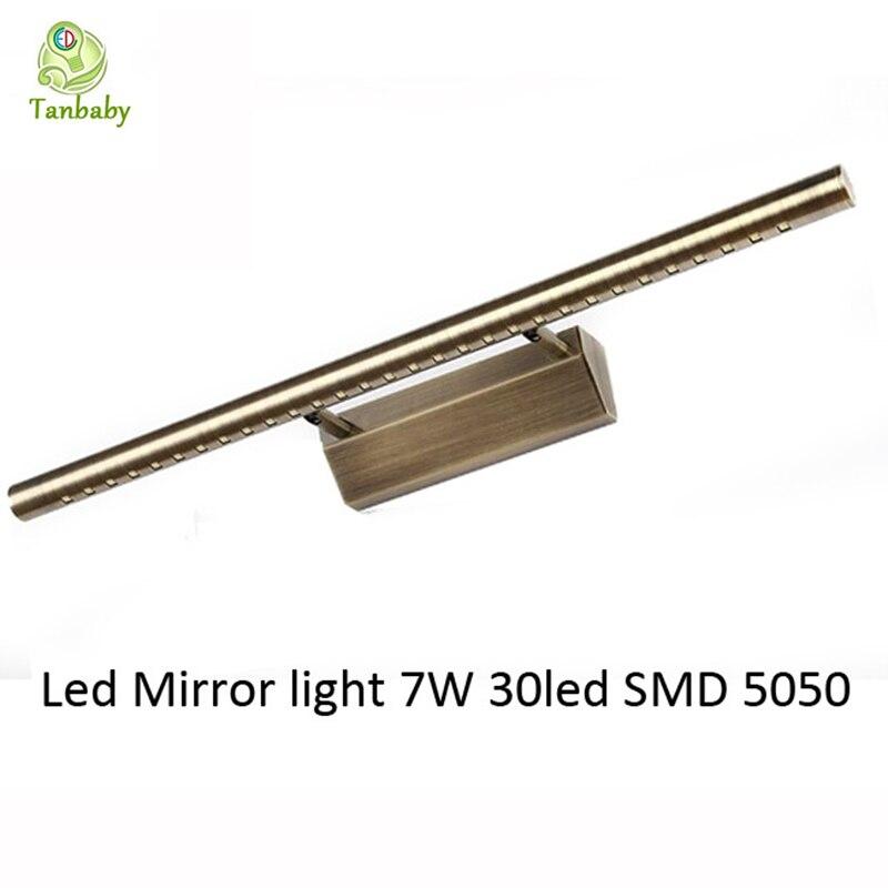 ФОТО Tanbaby 7W led lamp for bathroom mirror white bulb lamp AC85-265V 30led SMD 5050 energy saving wall light led indoor