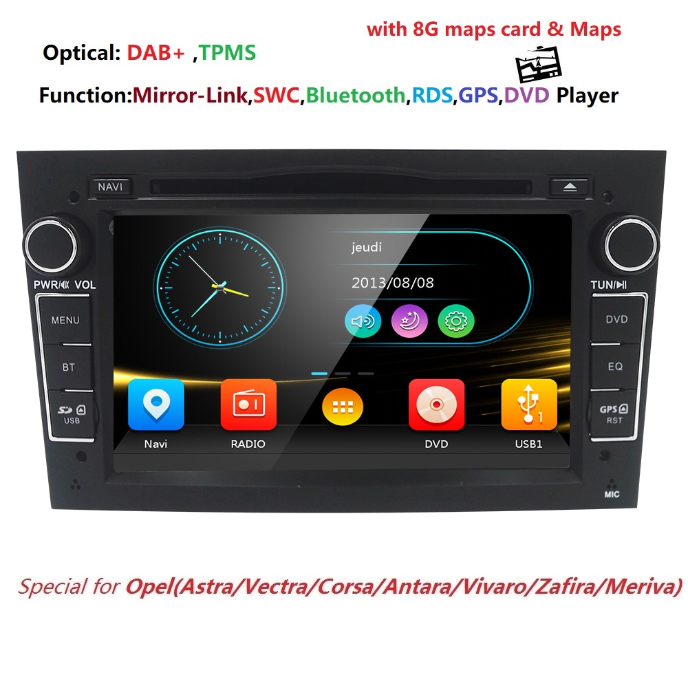 7 inchHD GPS Navigatiion 2din auto autoradio dell'automobile dvd playerFor opel vectra c zafira corsa astra H G Meriva Vivaro antara 3g BT SWC
