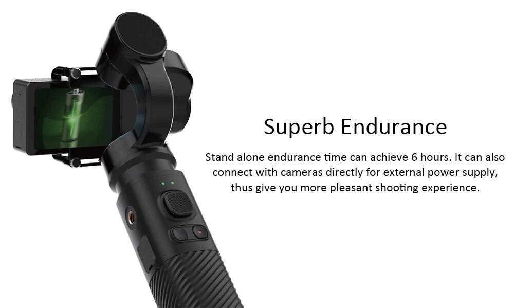 SJCAM SJ-Gimbal 2 Smooth 3-Axis Handheld Gimbal Stabilizer Bluetooth Control for SJCAM SJ8Pro/plus/air sj7 sj6 legend Action Cam 5