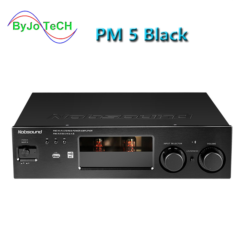 Nobsound PM5 Hi-Fi Stereo Power Amplifier NFC Wireless Bluetooth Amplifier Support USB CD DVD 80W + 80W Power Black/Silver