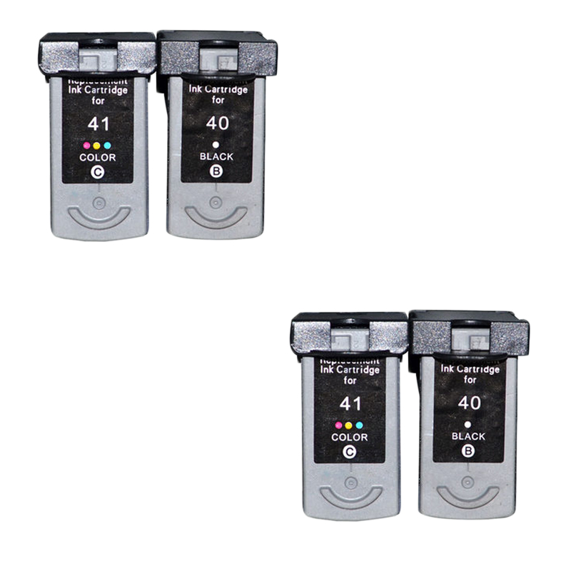 4pcs PG40 CL41 Compatible Ink Cartridge PG 40 CL 41 For Canon PIXMA iP1600 iP1200 iP1900 MX300 MX310 MP160 MP140 MP150 printers color ink jet cartridge for canon printers 821 820 series