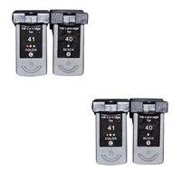 4pcs PG40 CL41 Compatible Ink Cartridge PG 40 CL 41 For Canon PIXMA iP1600 iP1200 iP1900 MX300 MX310 MP160 MP140 MP150 printers