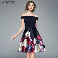 Floral Print Off Shoulder Sexy Dress Women Summer Dress Vestidos Mujer Verano 2018 Ukraine Evening Party