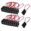 CNIM Hot 30A Wire In-line Fuse Holder Block Black Red for Car Boat Truck 20pcs