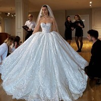 Vestido de noiva свадебное платье с открытыми плечами свадебные женское платье Дубай Великолепные Длинные кружевные свадебные платья индивидуаль