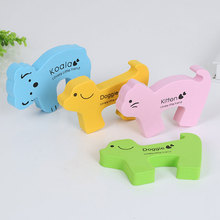 3Pcs Animal Child Safety Protection Kids Safety Koala Ladybug Security Card Door Stopper Baby Newborn Care Child Lock Protection kids baby eva safety safeguard gates door stopper cartoon doorways protection tool baby hand clamping preventionsafety door card