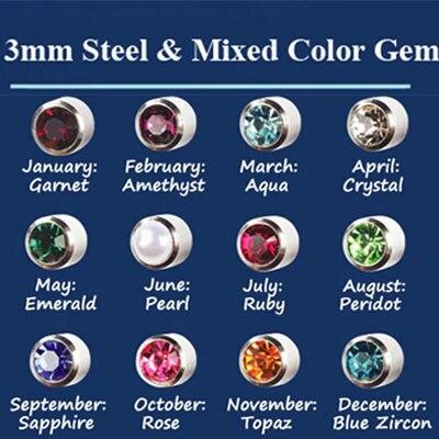 Профессиональный набор инструментов для пирсинга, Сережки для пирсинга, Сережки для пирсинга носа, Сережки для пирсинга, сережки для пирсинга, Сережки для пирсинга - Окраска металла: 12 Pair